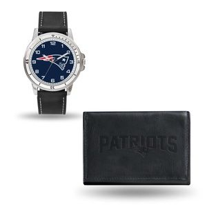 NFL New England Patriots Watch & Wallet Gift Set